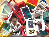 LEGO 25 Fenster Türen City Haus  - Kilo kg Konvolut Stück Zubehör Häuser Gebäude