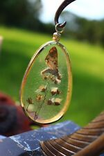 PENDANT PENDANT, chic design, butterfly and flower dried