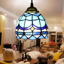 Multi-Color Ceiling Pendant Light Fixture Stained Glass Hanging Lamp New US