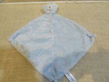 "Angel Dear Bear Plush Lovey Baby Security Blanket Blue Soft Cuddly 12"" x 12"""