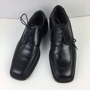 Structure Men's 69310 Black Leather Oxford Dress Lace up Shoes Italy Size 8.5 D
