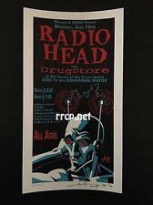 RADIOHEAD SEATTLE 7/10/95 S/N SILK SCREEN HANDBILL MINI POSTER ED OF 250 RARE!!