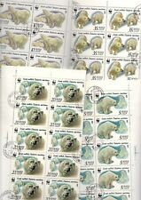 (#71) Russia 1987 Polar Bears WWF  full sheets of 25 CTO MORE LISTED