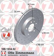 Jeu 2 Disques de frein SPORT COAT Z ZIMMERMANN SEAT LEON 1.9 TDI Syncro 150CH
