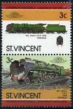 1946 SNCF Classe 242-a1 / 242A1 (4-8-4) France Train timbres / loco 100