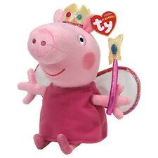 """Princess Peppa Beanie Plush Soft Toy, Peppa Pig 7"""" (18cm)"""