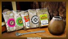 Yerba Mate Tee Set für Einsteiger: 5x50g von Yerba Mate und notwendige Zubehör!