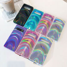 For Samsung Galaxy S10 S20 Ultra Plus 3D Glitter Rainbow Phone Skin Case Cover