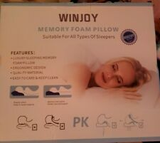 Winjoy Memory Foam Pillow, Cervical Orthopedic Sleeping Pillow for Neck Bed Neck