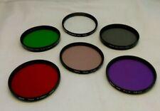 Set of 6 Filters 72mm Tiffen- Kenko-Hoya in Filter Pouch