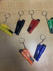 Glass Hammer Car Breaker Tool Emergency 3 in1 Window  Seat Belt Cutter Key Chain