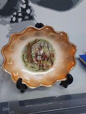 Antique Shakspeare ORLANDO Series Dish Bowl Fine Bone China Porcelain ENGLAND