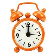 knocking Bell Retro Cute Alarm Clock Round Dial Number Desk Watch Clocks Color