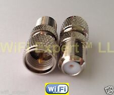 1 RF Mini UHF miniUHF male plug to F TV female jack RF coaxial adapter connector