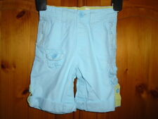 Girls mint green good quality cotton shorts with turn ups, BABY GAP, 6-12 months