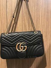 ~Genuine ``Gucci ^&GG^ Marmont ^Medium ^Matelasse* Shoulder** Bag~