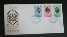 Ghana 1981 Royal Wedding IMPERF SET FDC First Day Cover Princess Diana