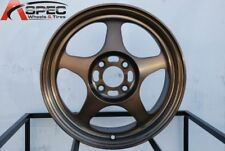 16x7 Rota SLIPSTREAM 4x100 +40 Full Royal Sport Bronze Wheel (1)