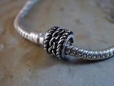 Bead Element Tube Spacer Kettenmuster Farbe Antiksilber Silber für Armband 0733