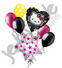 7 pc Hello Kitty Tween Balloon Bouquet Happy Birthday Party Decoration Gift Cat