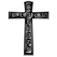 OFFICIAL LICENSED - BLACK SABBATH - CROSS METAL PIN BADGE ROCK OZZY IOMMI