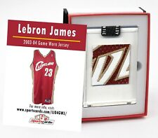 LEBRON JAMES 2003-04 ROOKIE CAVALIERS GAME WORN JERSEY MYSTERY SWATCH BOX!
