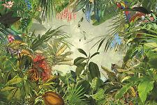 NON WOVEN giant wallpaper 368x248cm Green rainforest design wall mural decor