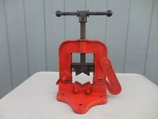 "Reed No 62 Bench Yoke Vise 1/4""-5"" Opening Pipe Clamp-Very Good"