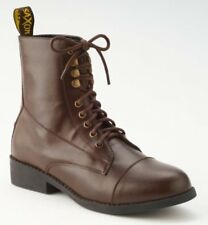 New SAXON Womens Equileather Paddock Equestrian Riding Lace Up Boots Combat 11
