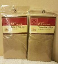 2  Pillowcases Tan New