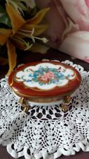 Limoges France Trinket Box Hand Painted Flowers
