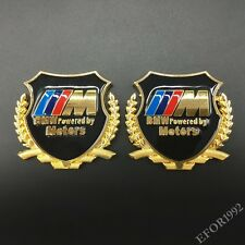 2x Metal M Power Motors Emblem Car Badge Decal Sticker For BMW X3 X5 M E Z4 GT