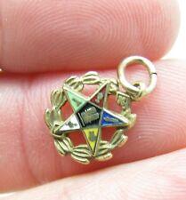 Vintage 12k Gold Filled Enamel Eastern Star Necklace Pendant Bracelet Charm