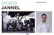 CYCLISME carte directeur sportif  DIDIER JANNEL équipe AG2R prévoyance 2011