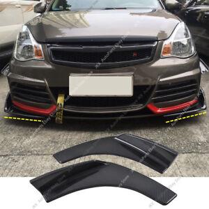 Pair Carbon Fiber Universal Front Bumper Lip Splitters Winglet 27X4.7 Inch kk