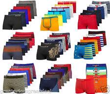 3, 6, 12 Mens Microfiber Boxer Briefs Underwear Seamless Compression Knocker Lot