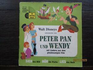 """Tonbuch + 7"""" Si. – FOC mit Booklet – Walt Disney's Peter Pan und Wendy"""