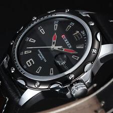 relojes de cuarzo para hombre del deporte ocasional de moda negro clásico watch