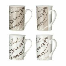 Set of 4 Willow Mugs / 270ml, Taupe, Porcelain