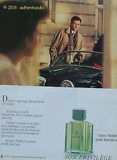 PUBLICITE GUCCI PARFUM NOBILE POUR HOMME SON PRIVILEGE DE 1988 FRENCH AD PUB