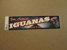 CHL San Antonio Iguanas Vintage Defunct Bumper Sticker