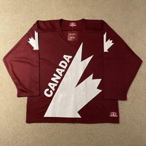 NWT Team Canada 2010 Hockey Jersey Canada Athletics Maroon White Large
