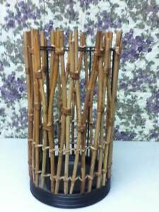 Large, Wicker Candle, Umbrella or Flower Stand