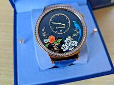 Huawei Watch Jewel W1 Rose Gold Stainless Steel leather band Swarovski Zirconia