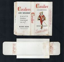 Old EMPTY cigarette packet complimentary gift pack Cavalier style 2 + slide #633