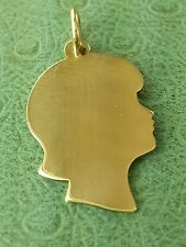 JAMES AVERY 14K Girl Silhouette Charm UNCUT Mint condition