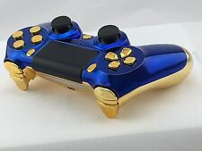 Official Sony PS4 Wireless Dualshock Controller Custom Modded Blue Gold Marvel *