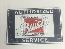 "Authorized Buick Service Valve In Head Motor Cars ~~ 8"" x 12"" Aluminum Sign"