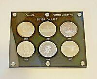 Canadian Commemorative Dollar Set 1935 1939 1949 1958 1964 1967 Proof Like