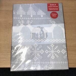 Bedlam Christmas Reindeer Grey Single Bedset - 2512